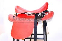 Cедло кавалерийское красное без потника