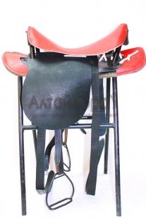 Cедло кавалерийское красно-черное без потника