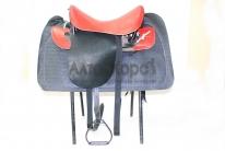 Седло кавалерийское красно-черное с потником